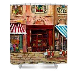 Rue St Paul Montreal Shower Curtain by Carole Spandau