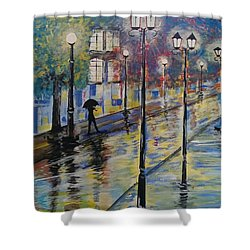 Rue St Paul Paris Shower Curtain by Judi Goodwin