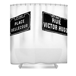 The Corner Of Place Bellecour And Rue Victor Hugo Shower Curtain