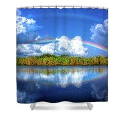 Rue's Rainbow Shower Curtain