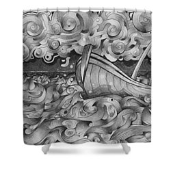 Ruff Sea Shower Curtain
