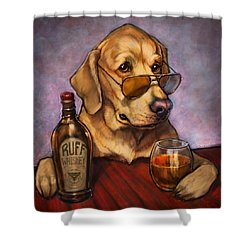 Ruff Whiskey Shower Curtain by Sean ODaniels