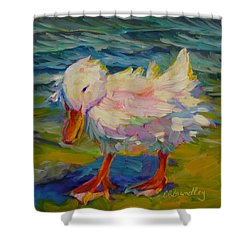 Ruffled Feathers Shower Curtain
