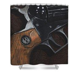 Ruger 44 Magnum Super Blackhawk Revolver Shower Curtain