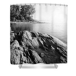 Rugged Lake Shore Shower Curtain