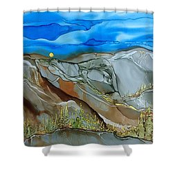 Shower Curtain featuring the painting Rugged by Pat Purdy