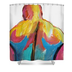 Rugger Man Broad Back Shower Curtain