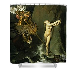 Ruggiero Rescuing Angelica Shower Curtain by Ingres