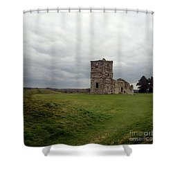 Shower Curtain featuring the photograph Ruin by Sebastian Mathews Szewczyk