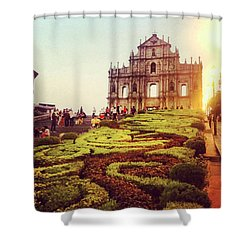 Ruinas De Sao Paulo Macau  Shower Curtain