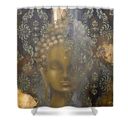 Ruined Palace Buddha Shower Curtain