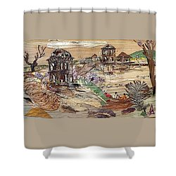 Ruined Structures  Shower Curtain by Basant Soni