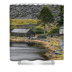 Shower Curtain featuring the photograph Ruins At Cwmorthin by Adrian Evans