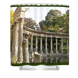 Shower Curtain featuring the photograph Ruins In The Park by Victoria Harrington