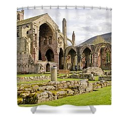 Ruins. Melrose Abbey. Shower Curtain