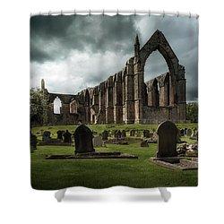 Ruins Of Bolton Abbey Shower Curtain by Jaroslaw Blaminsky