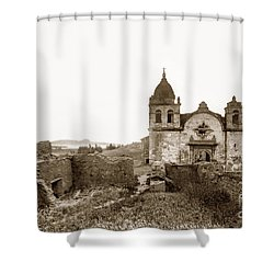 Ruins Of Carmel Mission, Monterey, Cal. Circa 1882 Shower Curtain