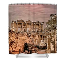 Ruins Of Ephesus Shower Curtain by Tom Prendergast