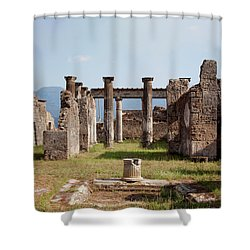 Ruins Of Pompeii Shower Curtain by Ivete Basso Photography