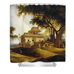 Ruins Of The Naurattan Shower Curtain by Thomas Daniell