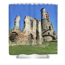 Shower Curtain featuring the photograph Ruins Of Zviretice Castle by Michal Boubin