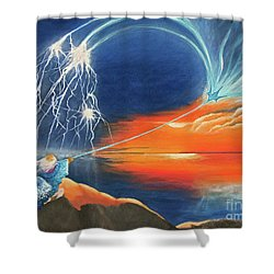 Ruler Of The Seas Shower Curtain by Cindy Lee Longhini