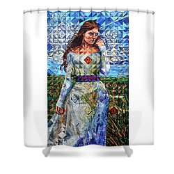 Shower Curtain featuring the painting Rules Of Refraction by Greg Skrtic
