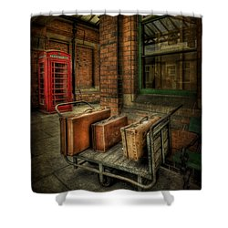 Rules Of Travel Shower Curtain by Evelina Kremsdorf