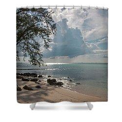 Rum Point Shower Curtain