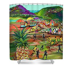 Rum With The Pineapple Shower Curtain