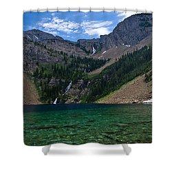 Rumble Lake Shower Curtain