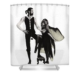 Rumours Painterly Shower Curtain by Daniel Hagerman