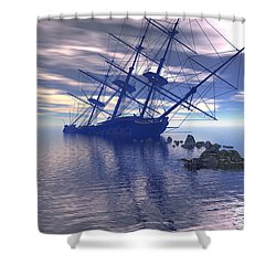 Run Aground Shower Curtain