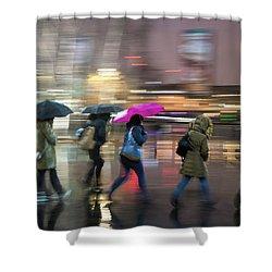 Run Between The Raindrops Shower Curtain