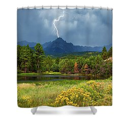 Shower Curtain featuring the photograph Run For Cover by Rick Furmanek