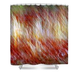 Run Like Hell Shower Curtain by Linda Sannuti