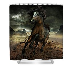 Run Like The Wind Shower Curtain by Shanina Conway
