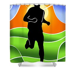 Run Shower Curtain by Stephen Younts