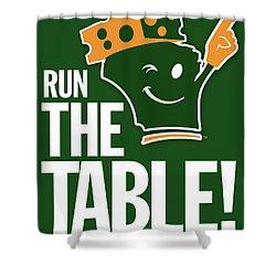 Run The Table Shower Curtain