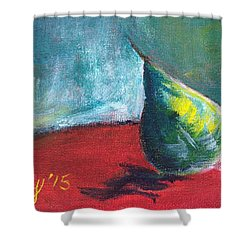 Runaway Pear Shower Curtain