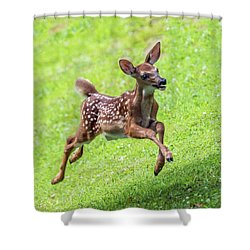Running And Jumping Shower Curtain