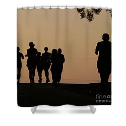 Running Shower Curtain by Angela Wright