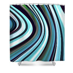 Shower Curtain featuring the digital art Running Blue by Wendy J St Christopher