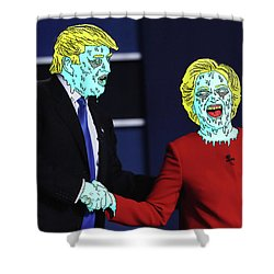 Running Down The Same Cloth. Shower Curtain