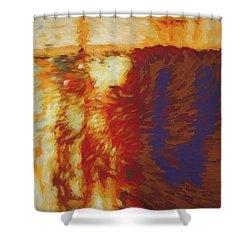 Running Hot Shower Curtain