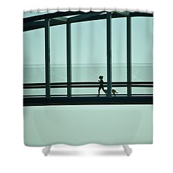 Running On Air Shower Curtain