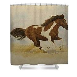 Running Paint Shower Curtain by Jeff Lucas