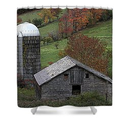 Rupert Mountain Face Barn Shower Curtain