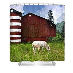 Rural America Shower Curtain by Lori Deiter