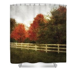 Shower Curtain featuring the photograph Rural Autumn by Cynthia Lassiter